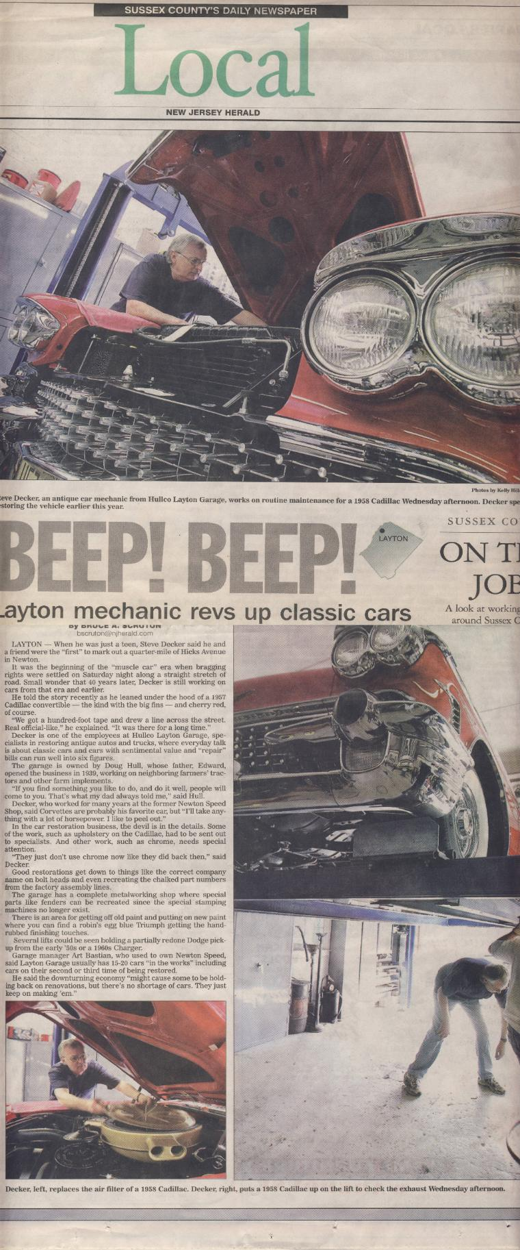 New jersey sussex county layton - In The News For Our Expert Automotive Shop In New Jersey Hullco Layton Garage Nj