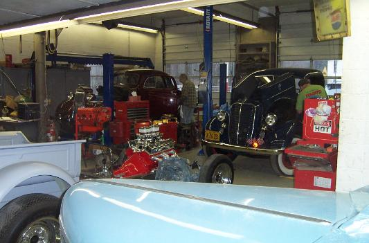 Antique classic vintage and muscle car restoration shop